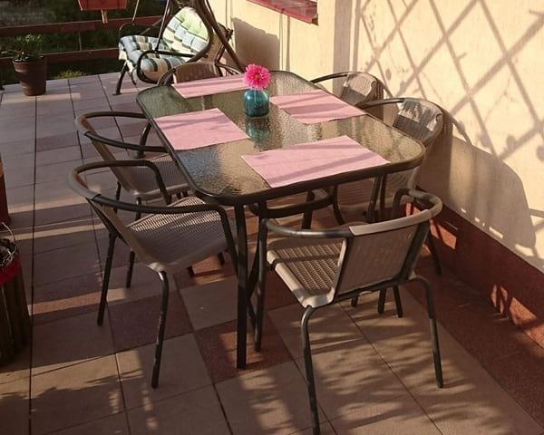 Stół i krzesła ogrodowe Simple