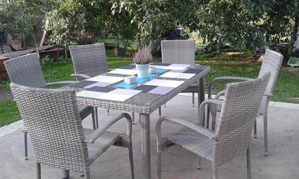 Stół i krzesła ogrodowe Fiesta/Venecja