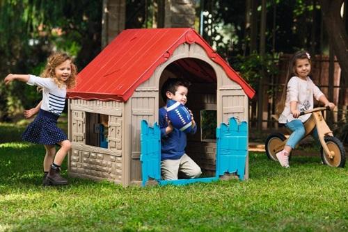 Plastikowy domek ogrodowy dla dzieci Foldable