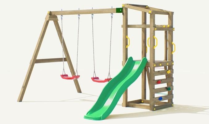 Drewniany plac zabaw dla dzieci Fungoo Hally