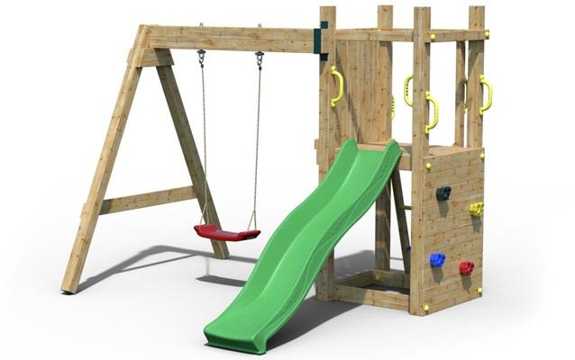 Drewniany plac zabaw dla dzieci Fungoo Suzzy