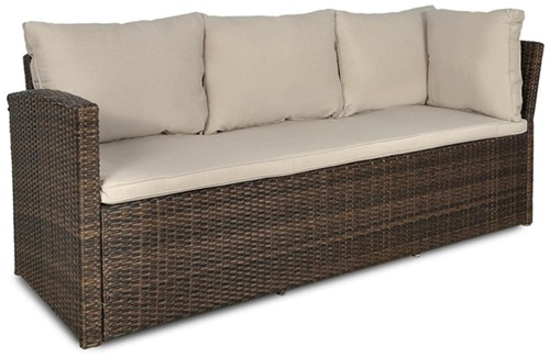 sofa technorattanowa Caprice Stelvio Brown