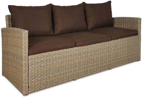 sofa technorattanowa Caprice Stelvio Light Brown
