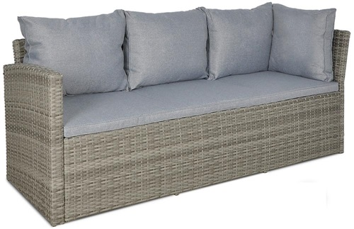 sofa technorattanowa Caprice Stelvio Dolphin Grey