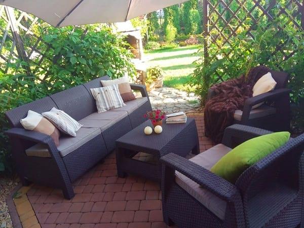 Meble ogrodowe Corfu Set Max w aranżacji pani Anny