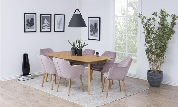 krzesła Emilia w kolorze brudnego różu