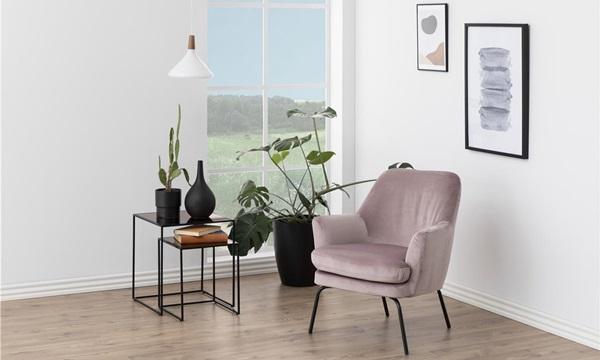 foteli Chisa w kolorze brudnego różu