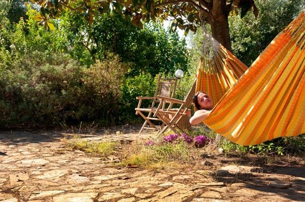 Hamak ogrodowy na taras