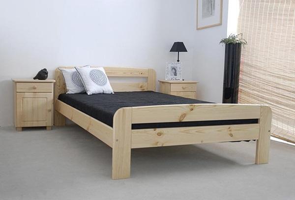 Klaudyna drewniane łóżko do nowoczesnej sypialni