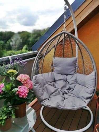 Siedziska na balkon huśtawka kokon