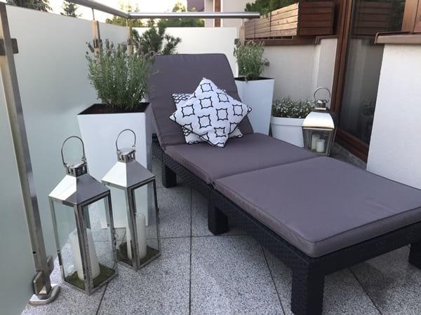 Siedziska na balkon leżak plażowy