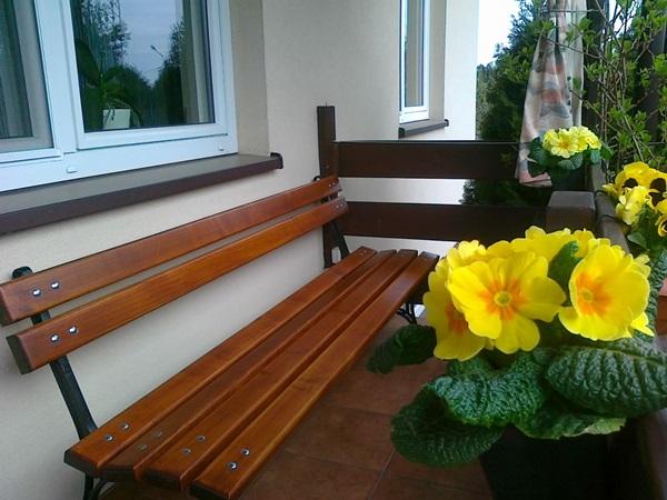 Siedziska na balkon meble drewniane