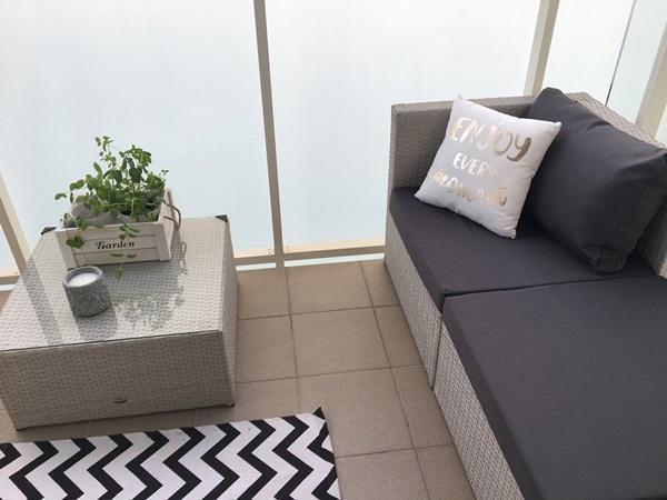 technorattanowe meble na balkon Farlito
