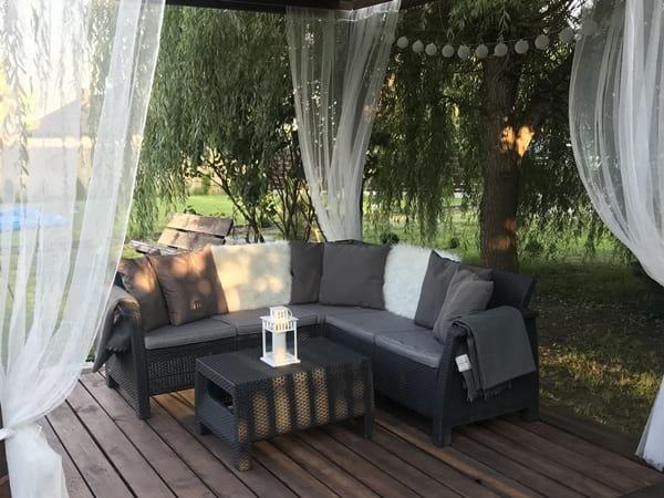 Meble Corfu Relax Set na tarasie pana Mariusza