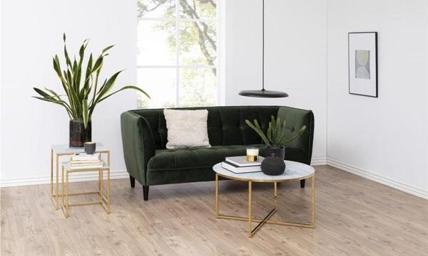 Aksamitna sofa Jonna