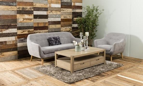 Elly nowoczesna sofa na drewnianych nóżkach