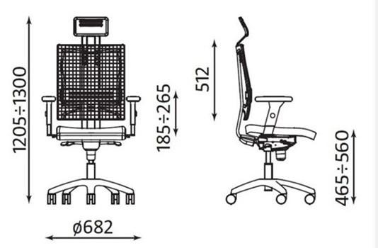 Ergonomiczne krzesło biurowe @-Motion