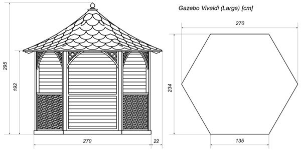 Vivaldi wiaty ogrodowe drewniane projekty