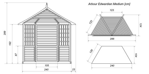 Edwardian altana na działkę projekt