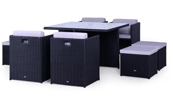Zestawy obiadowe - wysoki stół i krzesła / fotele