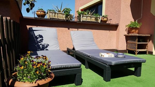 leżaki na balkon