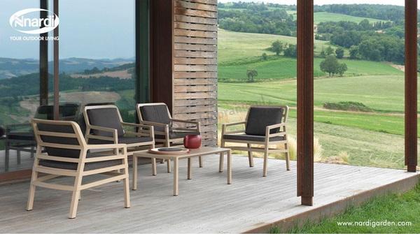nowoczesne meble ogrodowe drewniane