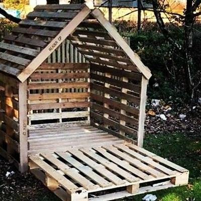 jak zrobic domek dla dzieci z palet