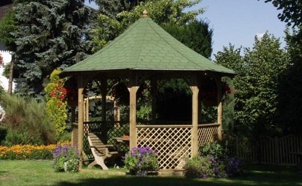 altana ogrodowa drewniana z grillem