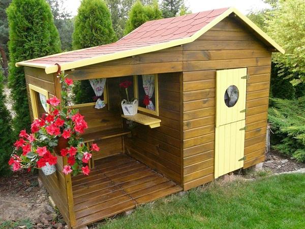 drewniane domki dla dzieci do ogrodu projekty