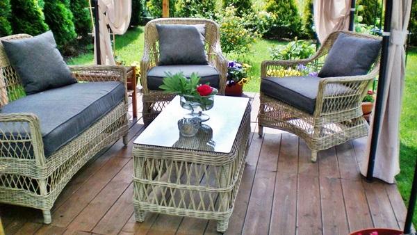zestaw mebli ogrodowych wiklina