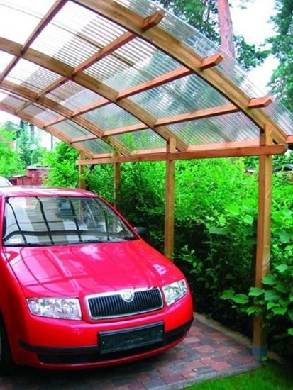 wiaty garażowe drewniane projekty