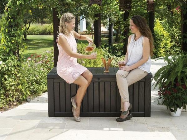 skrzynie ogrodowe z siedziskiem