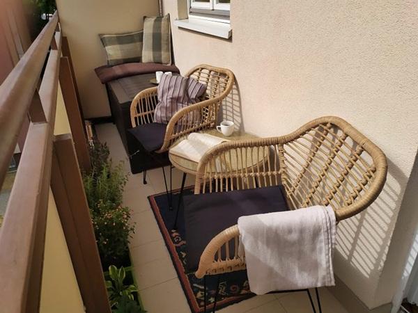 Balkon w bloku - metamorfoza
