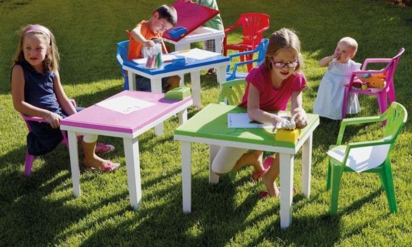krzesełko plastikowe ogrodowe dla dziecka