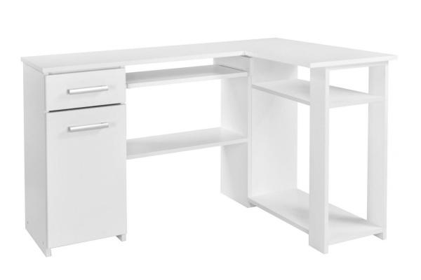 małe biurko narożne białe