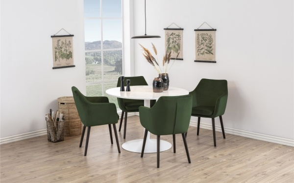 zielone krzesła do kuchni