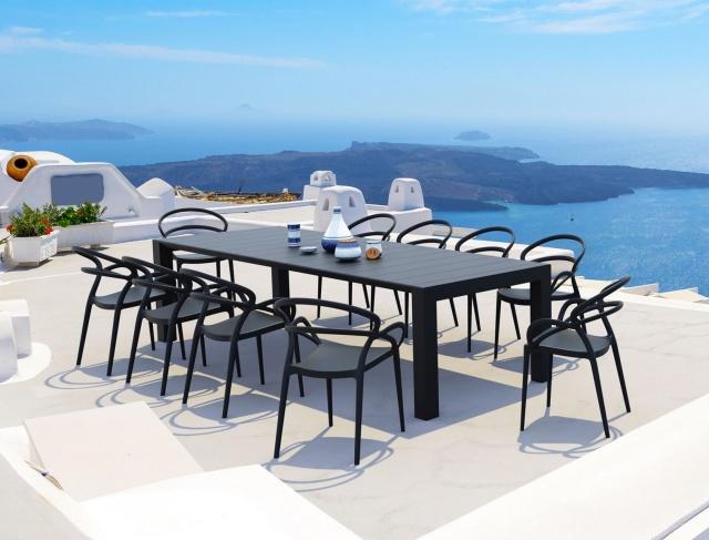 krzesła ogrodowe czarne