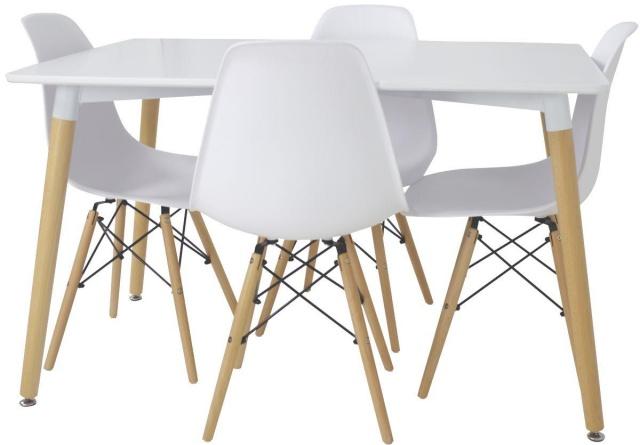 krzesło białe styl skandynawski