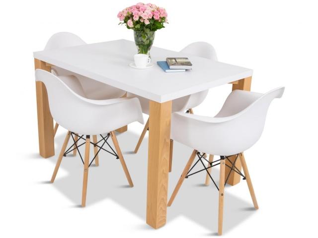 krzesła do salonu styl skandynawski