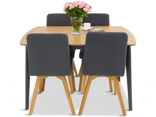 stół do jadalni rozkładany z krzesłami
