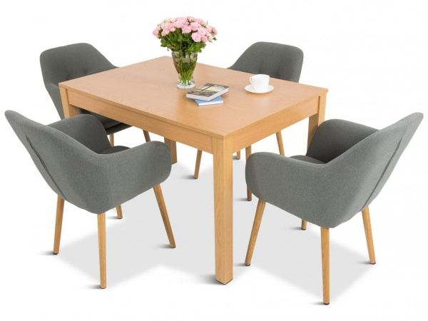 stół rozkładany i krzesła do salonu