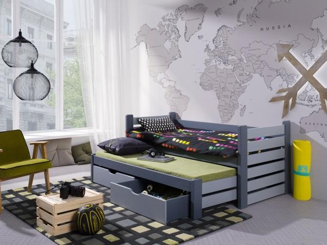 łóżko dla dwójki dzieci do małego pokoju