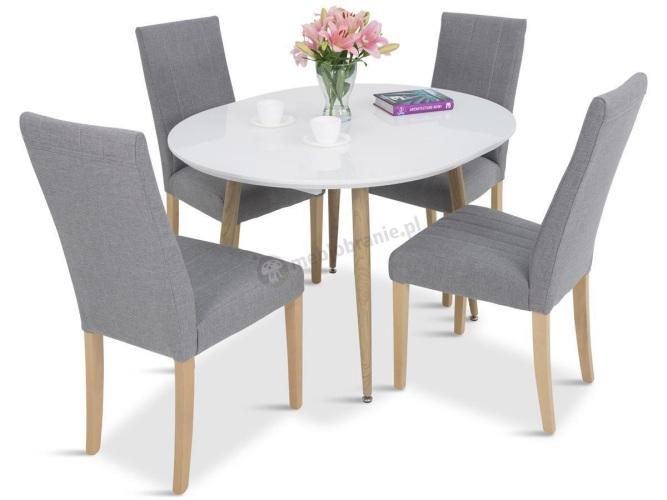 stół kuchenny rozkładany z krzesłami