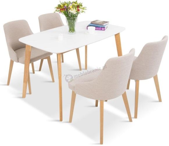 stół i 4 krzesła do salonu