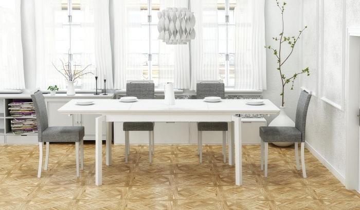 biały stolik do kuchni