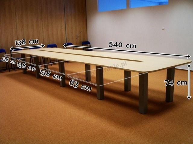 stół rozkładany na 20 osób wymiary
