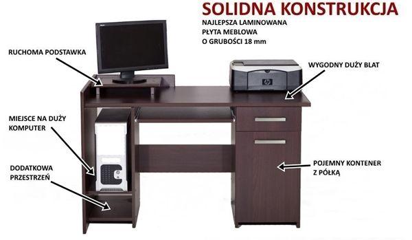 Komputerowe biurko z nadstawką IV