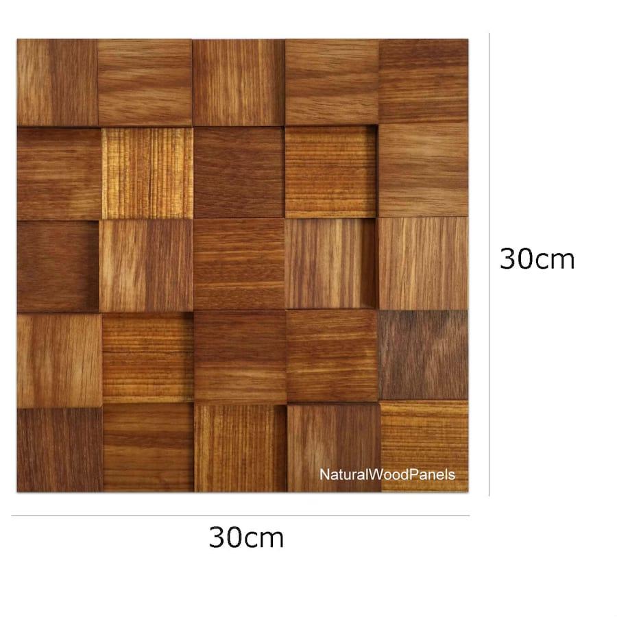 Amazing photo of  drewniane Massaranduba kostka 3d *038 Natural Wood Panels wymiary with #AF781C color and 1300x1300 pixels