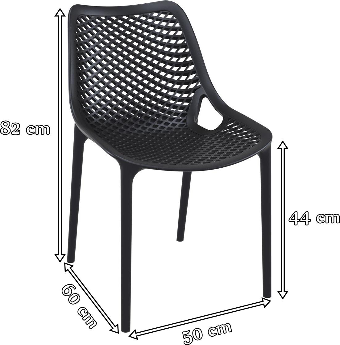 Krzesło Siesta Air wymiary